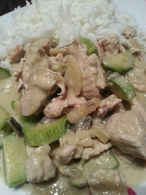 pollo al green curry